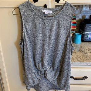 Loveriche from Buckle grey knot front tank large